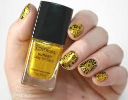 nail art designs yellow and black european standards of manicure