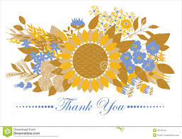 thank you card floral design stock photos image 38132753