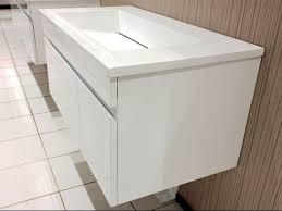 Flat Pack Bathroom Vanity Mdf White Painted Particle Board Side Bathroom Vanities With