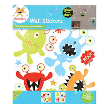 monsters glow in the dark wall stickers fine decor kids monsters glow in the dark wall stickers fine decor kids bedroom stickers new ebay