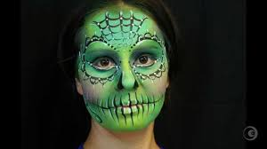 maquillage de fantasie sugar skull face painting youtube