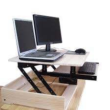 Computer Desk With Adjustable Keyboard Tray Wood Height Adjustable Sit Stand Desk Riser Laptop Desk