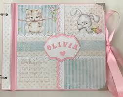 baby girl photo album baby photo album etsy