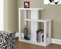 White Hallway Table Monarch Specialties I 2471 White Console Accent