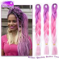 pink hair extensions fashion purple pink ombre kanekalon jumbo braiding hair pink hair