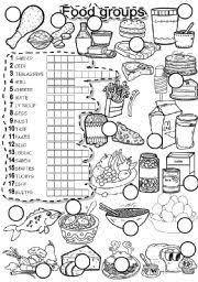 english worksheets food and food groups educational homeschool