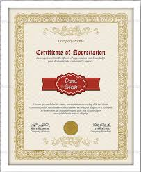 certificate of appreciation template 20 free word pdf psd