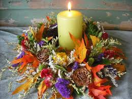flower candle rings dried flower candle ring or wreath centerpiece for your fall