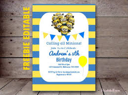 diy minion invitations 2 freebies archives birthday party ideas themes