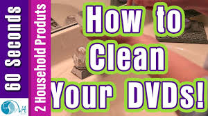 household products how to clean dvd cd with two common household products youtube