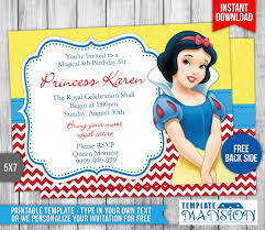 Invitation Card Application Snow White Birthday Invitations Kawaiitheo Com