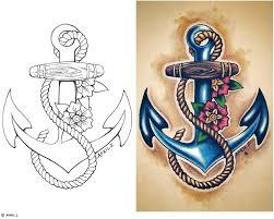 anchor designs with colour