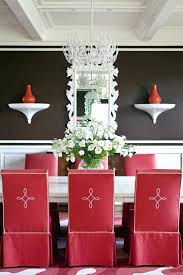 be confident with color how to integrate red chairs in the dining