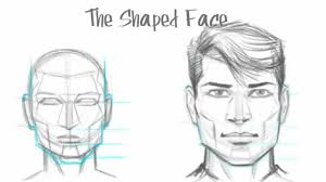 how to draw the male face basic drawing tutorial the shaped