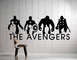 a personal favorite from my etsy shop https www etsy com listing the avengers wall mural ironman captain america by abruptdesign