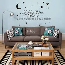 i love you moon and back again vinyl wall stickers quotes home