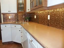 stylish stylish tin tiles for backsplash in kitchen shiny copper