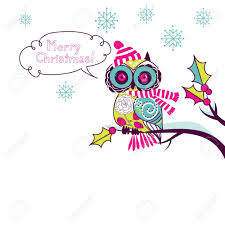 cute christmas owl royalty free cliparts vectors and stock