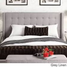 Wingback Headboard King by Inspire Q Marion Faux Alligator Leather Nailhead Wingback Tufted