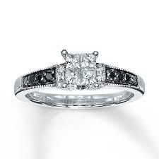 kays black engagement rings 2 k white gold engagement rings from jewelers 14 engagement