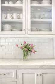 kitchen backsplashes with white cabinets white tile backsplash shade of white subway tile backsplash with