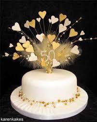50th wedding anniversary cakes 50th birthday golden wedding anniversary gold and heart cake