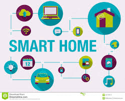 smart home and home automation infographic stock vector image