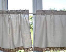 linen cafe curtains etsy