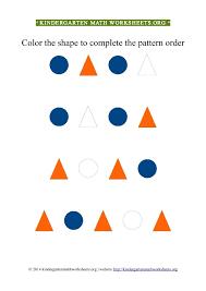 kindergarten color patterns triangles circles kindergarten math
