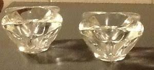 star shaped tea lights vintage clear glass candle holders 4pt star shaped tea light or