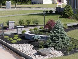 R R Landscaping by R U0026r Caddick Driveway Landscape Using Pillars River Rock And Wall