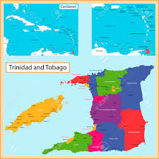 Map Caribbean Sea by 30683063 Map Of The The Republic Of Trinidad And Tobago Drawn With