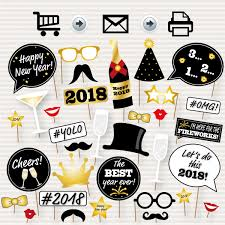 photo booth party props new year photo booth printable props 2018 party props photo