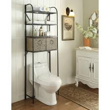 storage shelves with baskets over the toilet storage bathroom cabinets u0026 storage the home depot