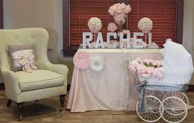 Decorating Chair For Baby Shower Blush Baby Shower Decorations