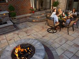 Firepit Dining Table by Lowe U0027s Home Improvement Fire Pit For Awesome Outdoor Dining Table