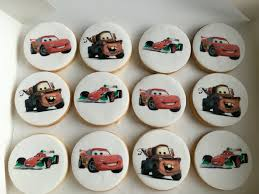 edible print cars themed cookies with edible print my cake creations