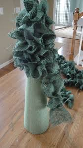 new south design 3 ruffled burlap christmas trees for 27