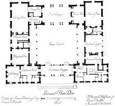 mexican style courtyard house plans level 1 view expanded size courtyard floor plans