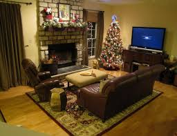 living room beige small interior of family room with brick