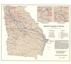 Augusta Ga Map Sherman U0027s March To The Sea