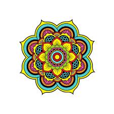 Wall Decals Mandala Ornament Indian by Mandala Wall Decal Full Color Namaste Indian Yoga Decal