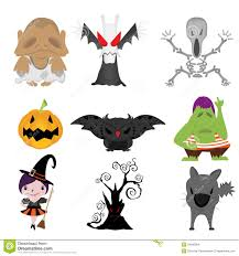 set of funny halloween cartoons stock images image 34500954