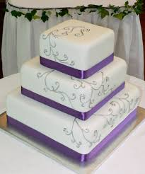 purple silver wedding cake idea in 2017 bella wedding