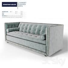 Sleeper Sofa Manufacturers 3d Models Sofa Jonathan Adler Lert Sleeper Sofa Regarding
