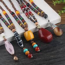 resin bead necklace images Weiyu new design nepal wood beads necklaces resin lampwork wood jpg