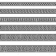 illustration of different ornament patterns royalty free