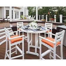 5 Piece Patio Bar Set by Shop Trex Outdoor Furniture Monterey Bay 5 Piece Classic White