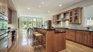 Kitchen Island Height by Cherry Wood Colonial Prestige Door Bar Height Kitchen Island