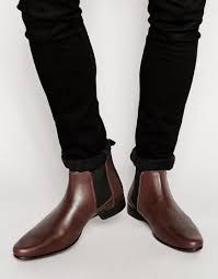 ugg boots sale asos asos burgundy chelsea boots in burgundy leather with back pull purple product 2 562735215 normal jpeg